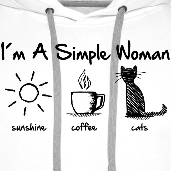 Vorschau: simple woman cats - Männer Premium Hoodie