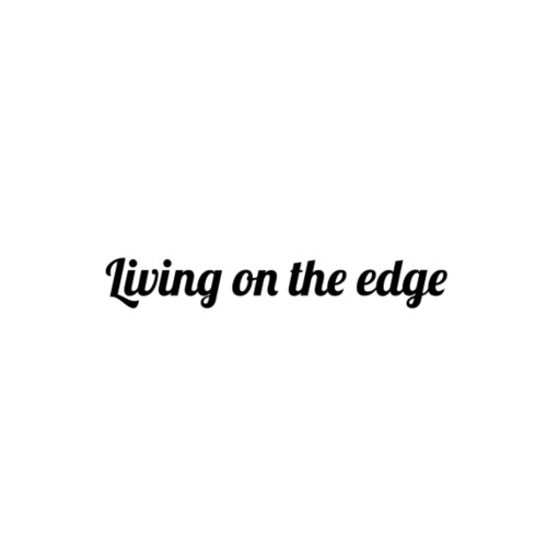 Living on the edge tröja - Premiumluvtröja herr