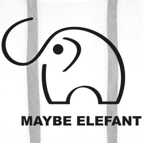 Maybe Elefant - Männer Premium Hoodie