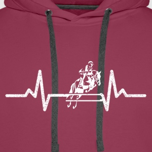 horse riding - Men's Premium Hoodie