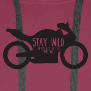 Biker / motorcycle: Stay wild - never let the - Men's Premium Hoodie