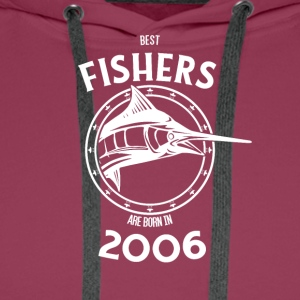 Present for fishers born in 2006 - Men's Premium Hoodie