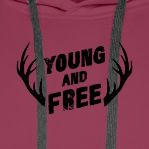 Young and Free - Premiumluvtröja herr