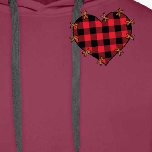Lap formet som hjerte - Herre Premium hættetrøje