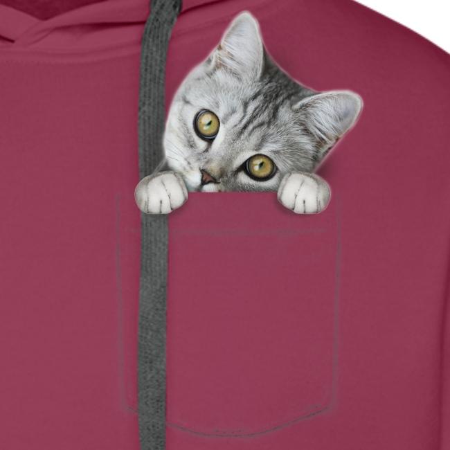 Vorschau: cat pocket - Männer Premium Hoodie