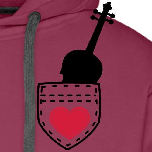 Pocket Violine Geschenk - Männer Premium Hoodie