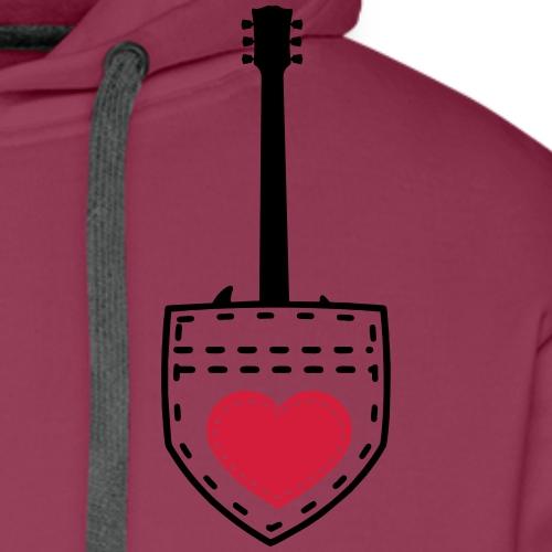 Pocket Guitar SG Gitarre Geschenk Shirt - Männer Premium Hoodie