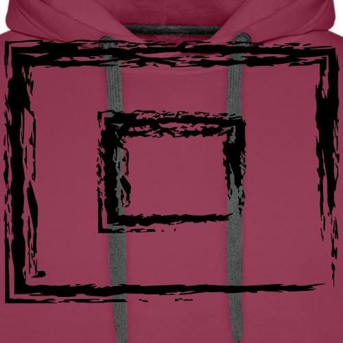 Wegzeichen 10' Warten - Kreide - Farbe wählbar - Männer Premium Hoodie