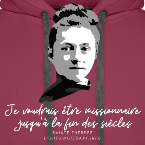 Sainte Therese patronne des missions - Sweat-shirt à capuche Premium pour hommes