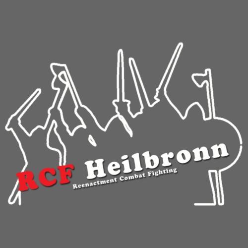 RCF Heilbronn - Logo weiß - groß - Männer Premium Hoodie