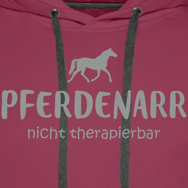 Vorschau: Pferdenarr - Männer Premium Hoodie