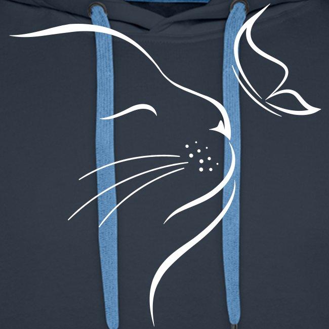 Vorschau: cat butterfly - Männer Premium Hoodie