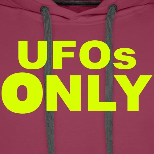 ufos only - Sweat-shirt à capuche Premium pour hommes