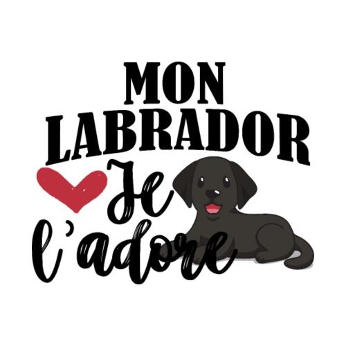 Mon Labrador Je L'adore - Sweat-shirt à capuche Premium pour hommes