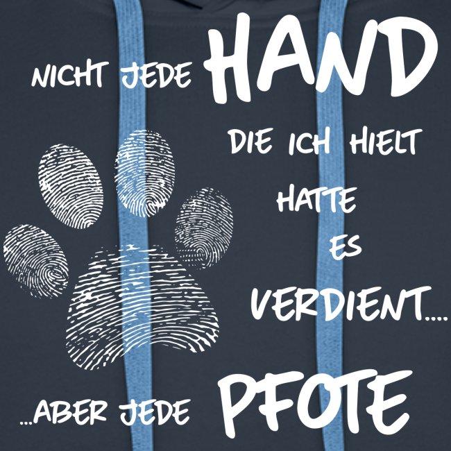 Vorschau: Hand Pfote Hund - Männer Premium Hoodie
