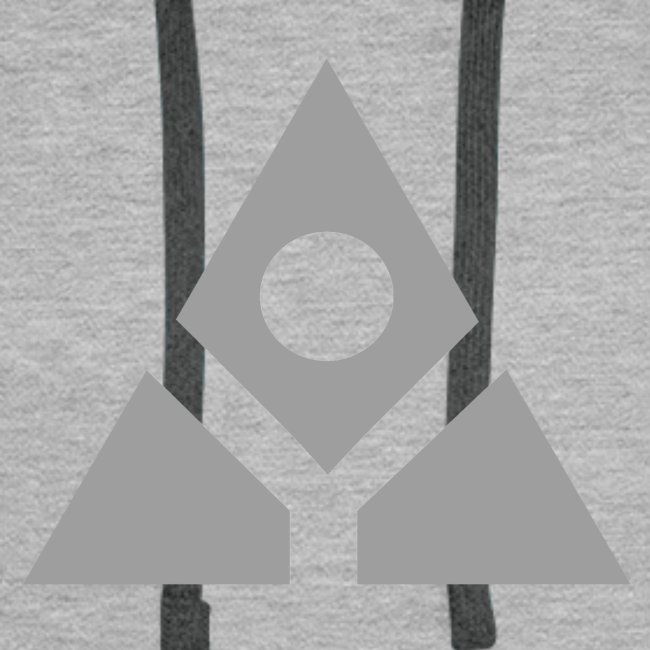 Sacred geometry gray pyramid circle in balance