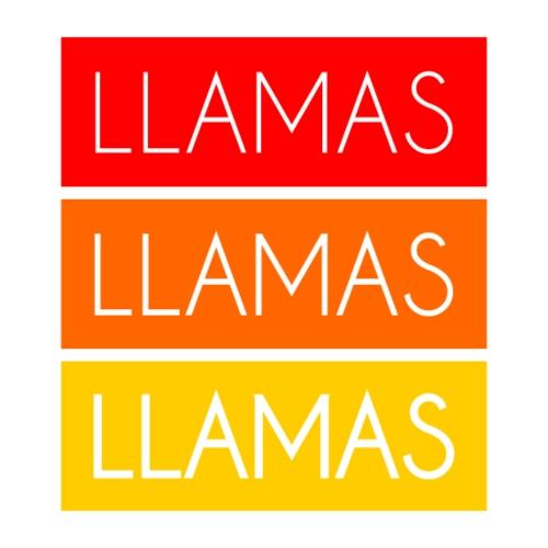 Llamas Llamas Llamas - Herre Premium hættetrøje