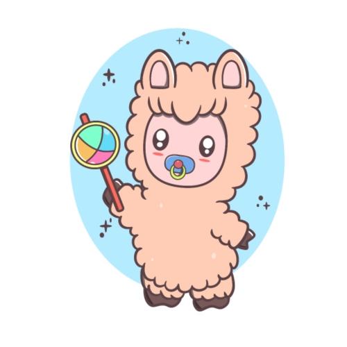Baby Llama - Herre Premium hættetrøje