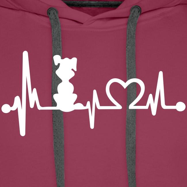Vorschau: dog heart beat - Männer Premium Hoodie