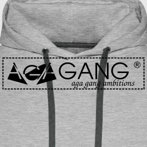 AGA GANG OFFICIEL - Sweat-shirt à capuche Premium pour hommes