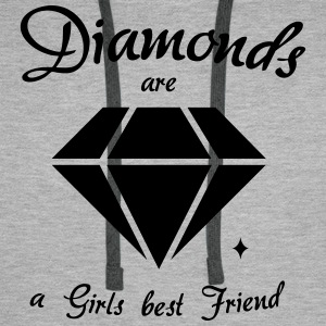 Diamanter är en Girls Best Friend - Premiumluvtröja herr