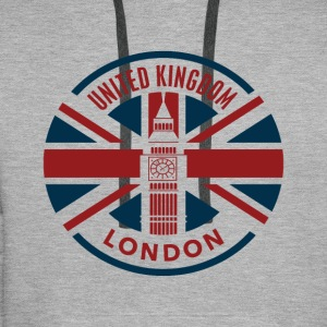 Royaume-Uni - Londres - Union Jack Flag - Sweat-shirt à capuche Premium pour hommes