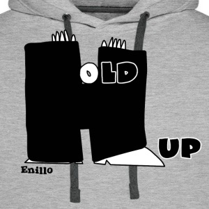 Enillo Hold Up Graphics & Typography - Men's Premium Hoodie