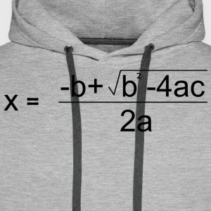 Quadratic Formula for all the Maths Disciples - Men's Premium Hoodie