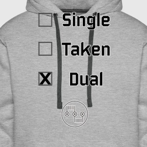 Single, Taken, Dual - Männer Premium Hoodie