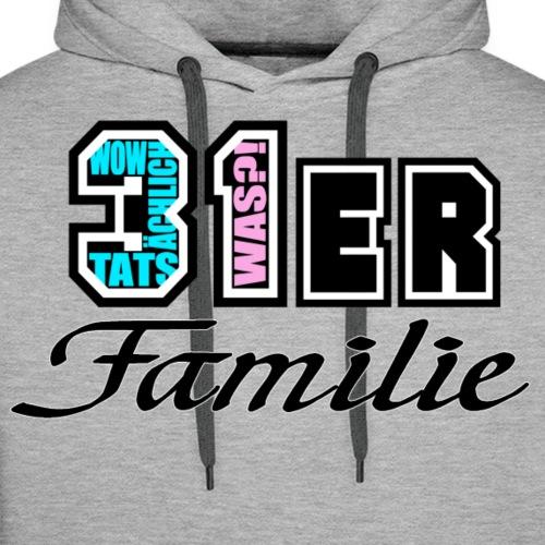 Türkis Pink 31ER Familie - Männer Premium Hoodie