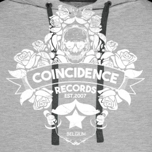 Coincidence Records Logo 2016 White Skull Logo - Mannen Premium hoodie