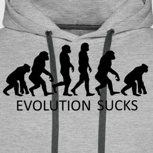 ++ ++ Evolution Sucks - Bluza męska Premium z kapturem