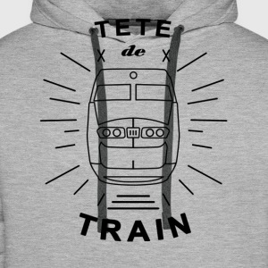 Tete_De_Train_Black_Aubstd - Sweat-shirt à capuche Premium pour hommes