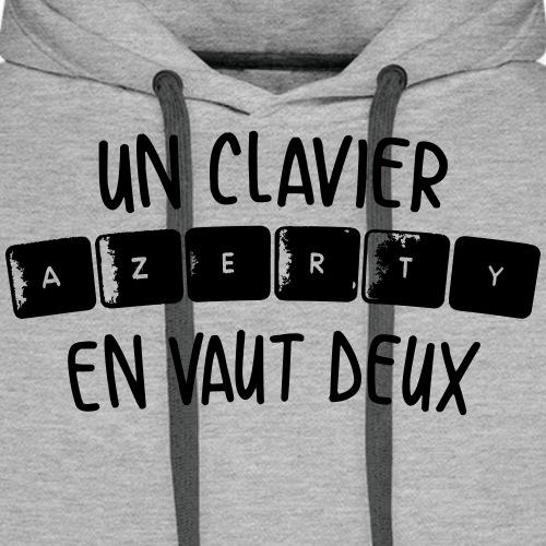 Clavier Azerty - Sweat-shirt à capuche Premium pour hommes