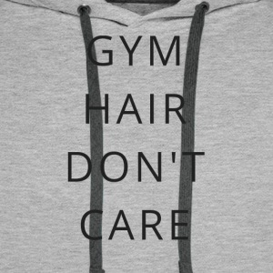 Gym Hair bryr meg ikke - Premium hettegenser for menn