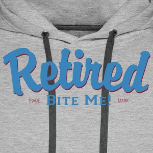 Retired Bite Me - Sweat-shirt à capuche Premium pour hommes