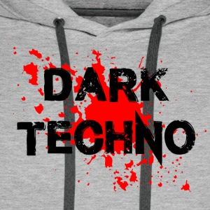Dark Techno with blood spatter - Men's Premium Hoodie