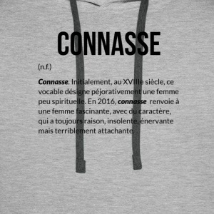 Connasse_Definition - Sweat-shirt à capuche Premium pour hommes
