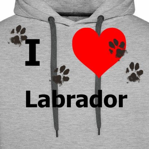 i Love Labrador - Männer Premium Hoodie