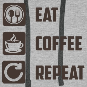 Eat,Coffee,Repeat - Männer Premium Hoodie