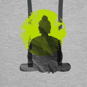 Buddha Meditation India Yoga namaste world green wa - Men's Premium Hoodie