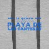 Te quiero Playa de Las Canteras - Sudadera con capucha premium para hombre