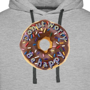 Donut worry. Be happy - Mannen Premium hoodie