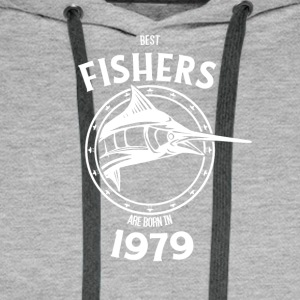 Present for fishers born in 1979 - Men's Premium Hoodie