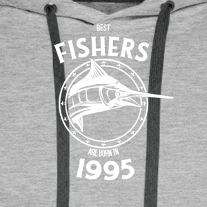 Present for fishers born in 1995 - Men's Premium Hoodie