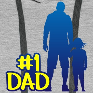 Dad is number one fathers day - Men's Premium Hoodie