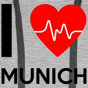 I Love Munich - I love Munich - Men's Premium Hoodie