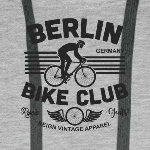 BERLIN BIKE - Sweat-shirt à capuche Premium pour hommes