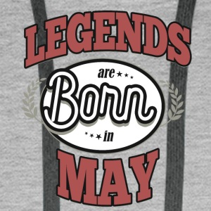 Birthday May legends born gift birth - Men's Premium Hoodie