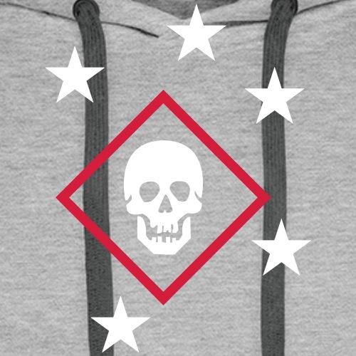 Marine Skull Raider - Felpa con cappuccio premium da uomo